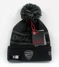 New Era Cap Men's Ducati Motorcycles Logo Black Winter Knit Bobble Beanie Hat