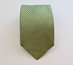 NAUTICA Neck Tie Gold & Blue Dotted Pattern 100% Silk Made In USA
