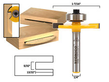 "#10 Biscuit Joint Slot Cutter Router Bit - 1/4"" Shank - Yonico 14183q"