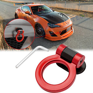 For Toyota Camry 86 2000-21 JDM Red Track Racing Sport Style Tow Hook Ring Decor