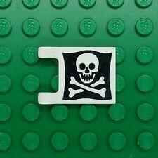 LEGO Pirate Flag 2x2 Skull and Cross Bones, Jolly Roger 2335p30