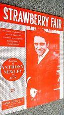 ANTHONY NEWLEY: STRAWBERRY FAIR (SHEET MUSIC)
