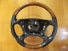 03-09 Mercedes R230 SL500 CLK500 CLK550 Steering Wheel Black Leather Burl Wood