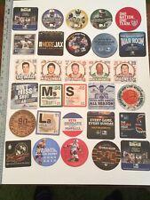 30 Diff Sports Direct Tv Non Beer Coaster Mat Lot Oddball Coasters NFL NCAA NHL