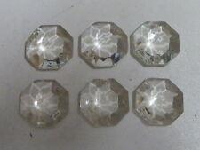 6 PAMPILLES OCTOGONES t:1.40cm pour lustre -sd