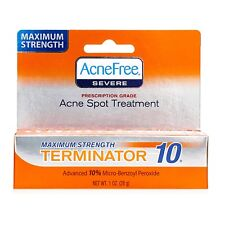 AcneFree Terminator 10 Acne Spot Treatment with Benzoyl Peroxide 10% Maximum