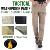 Soldier Tactical Water Pants Men Winter Thick Combat Cargo Outdoor Baggy Trouser