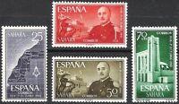 SPANISH COLONIES - SAHARA 1961 XXV YEARS OF GENERAL FRANCO Edifil 193 - 196 MNH