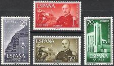 Colonias Españolas-Sahara 1961 XXV años del General Franco Edifil 193 - 196 estampillada sin montar o nunca montada