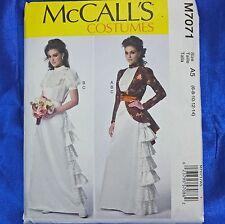 McCall's M7071 7071 Steampunk Victorian Top Skirt Jacket 6-14 Costume Pattern