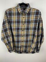 Mens St. Johns Bay Flannel Shirt Small S Plaid Legacy Flannel Cotton Classic Fit