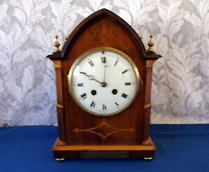 STUNNING ANTIQUE BREAK ARCH LANCET CLOCK. FRENCH VINCENTI MVT, TIME /STRIKE 1905