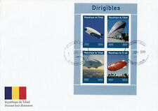 Chad 2019 FDC Dirigibles Airships 4v M/S Cover Aviation Stamps