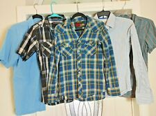 Lot Of 5 Men's Size Small Button Down Shirts Old Navy Abercrombie Airwalk Armani
