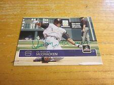 Quinton McCracken Autographed Signed 2003 Upper Deck #421 Card MLB Diamondbacks