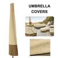 Umbrella Cover Waterproof Patio Outdoor Umbrella Protect Carry Zipper Bag Durabl