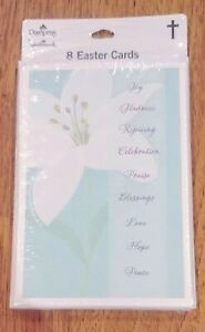Pack of 8 Hallmark Connections Happy Easter Cards With Envelopes; Easter Lily