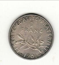 RARE SUP core 150 euro   1 FRANC  SEMEUSE ARGENT 1901