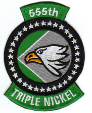 USAF PATCH, 555TH TFS, TRIPLE NICKLE, UBON THAILAND, VIETNAM WAR ERA          Y