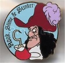 Captain Hook Villain Slime & Stinker 2002 Cast Lanyard Disney Pin Peter Pan