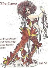 """*New* Cloth Art Doll Pattern """"Fire Dance"""" By Mary Tressler"""