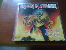 IRON MAIDEN THE NUMBER OF THE BEAST 45 GIRI  RED VINYL  EX/EX RARO!!! + POSTER