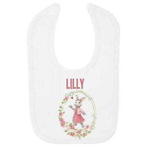 Lily Bobtail Personalised Baby BIB – Printed with Name