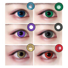1Pair Circle Colored Contact Lenses Yearly Use Cosplay Colorful Eye Makeup