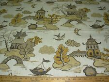 ~BTY~HOME ACCENT~ RONNIE GOLD~XANADU ASIAN ORIENTAL UPHOLSTERY FABRIC FOR LESS~