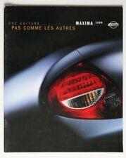 NISSAN MAXIMA 2000 dealer brochure - French - Canada - ST2003000918