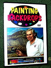 """cp080 MODEL RAILROAD VIDEO DVD """"PAINTING BACKDROPS"""""""