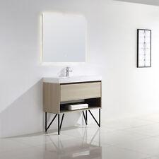 "Dowell 015 Srs 36"" Single Sink Modern Bathroom Vanity In Grey Ashtree With Legs"
