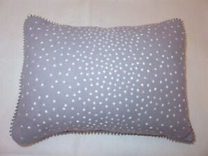 Vera Wang TRAILING VINES Purple Embroidered Wool rectangle deco Pillow New