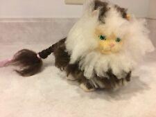 Vintage 1989 Hasbro Sweetie Kitties Long Hair Tabby Kitty Cat Fluffy Brown White