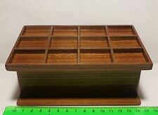 1:12 Scale Empty Wooden Counter With 12 Sections Dolls House Miniature Shop