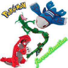 3X Pokemon Character Groudon Kyogre Rayquaza Legendary Stuffed Animal Plush Toys