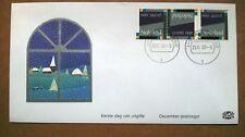 NVPH 1461 strook 3 Decemberzegels op speciaal 1e dag cover