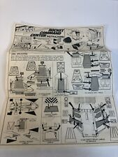 Vintage Super Joe Rocket Command Center Instruction Sheet GI joe