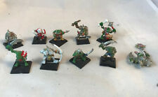 Classic Orc Warhammer Lot Orcs Metal Pewter Oldhammer Vintage Mob Lot Fantasy