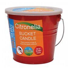Citronella Candle in Metal Bucket