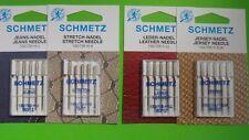 20 Macchina da cucire Aghi SCHMETZ AGO 130 Start Set, pelle, jerse , Jeans,