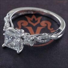 2.0Ct Princess Cut White Diamond 3-Stone Engagement Ring & 14K White Gold