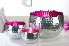 1 Stück Casablanca Leuchter D19cm fuchsia silber pink Windlicht Tischlicht NEU