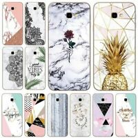 Phone Cover Silicone Marble Geometric Case For Samsung Galaxy J4 Plus J6 Plus