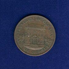 CANADA  (LOWER CANADA) 1842  1 SOU (HALF-PENNY) TOKEN/COIN, XF+, KM-Tn18