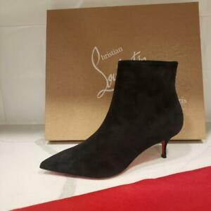 Christian Louboutin SO KATE BOOTY 55 Suede Ankle Boots Kitten Heel Bootie $995