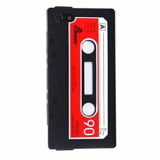 iPHONE 4 4G 4S- Soft Silicone Rubber Cassette Tape Case Skin Cover - RED & BLACK