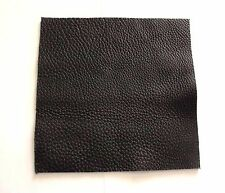 "8""x8"" BLACK SOFT LEATHER HIDE FULL GRAIN REMNANTS offcuts 2.5mm thick"