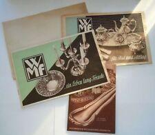 3 Wagenfeld WMF Katalog Prospekte mit Preisliste von 1951/52 Rarität