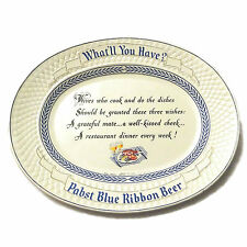 1954 Pabst Blue Ribbon Beer Serving Tray Wives Poem Restaurant Plastic